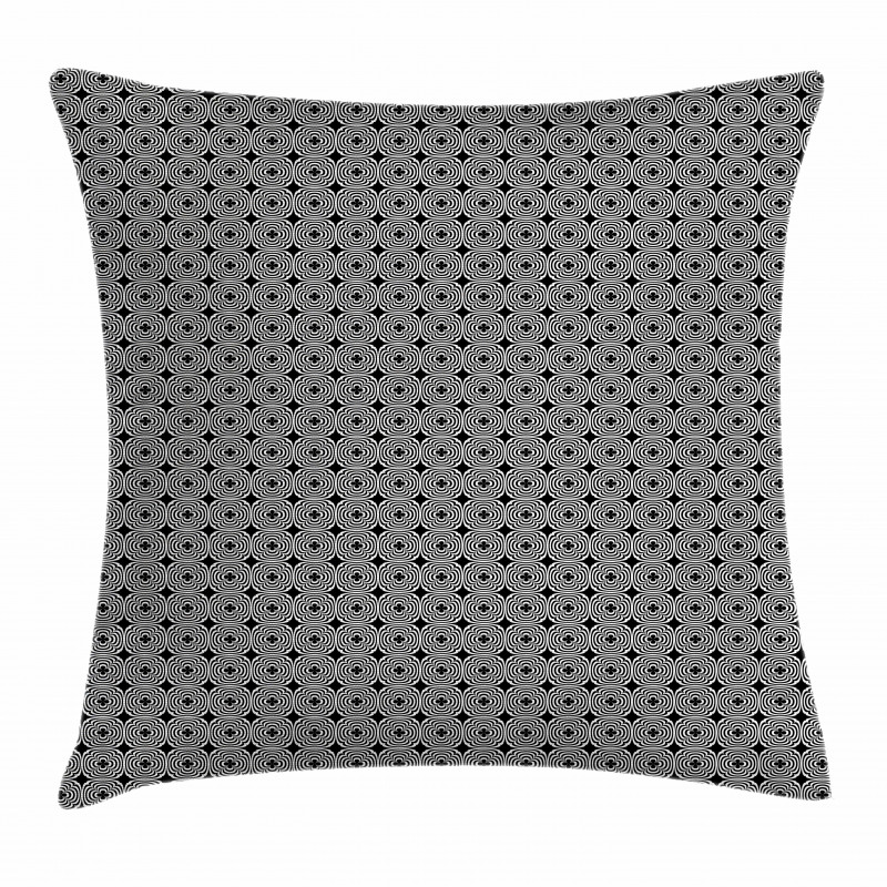 Curved Half Circles Pillow Cover