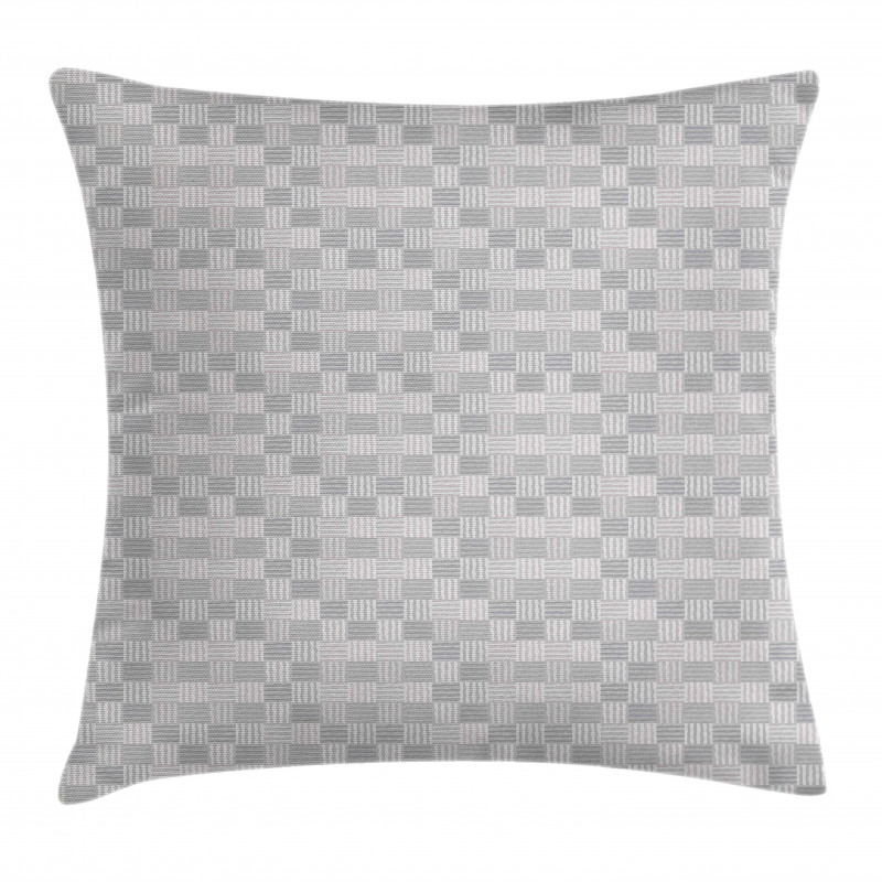 Squares with Wavy Lines Pillow Cover