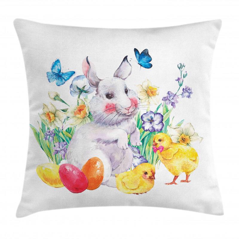 Bahar Minder Kılıfı Paskalya Temalı Tavşan ve Civciv Çizimleri