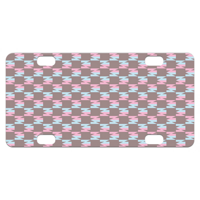 Abstract Arrow Design Mini License Plate