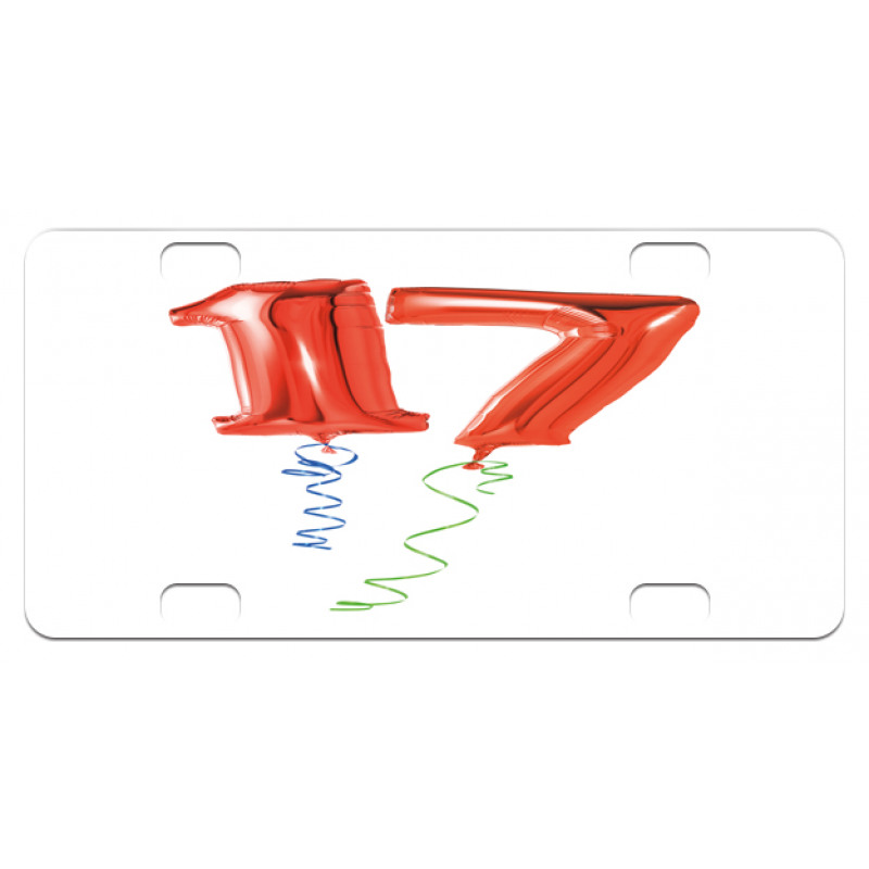 17 Party Red Balloons Mini License Plate