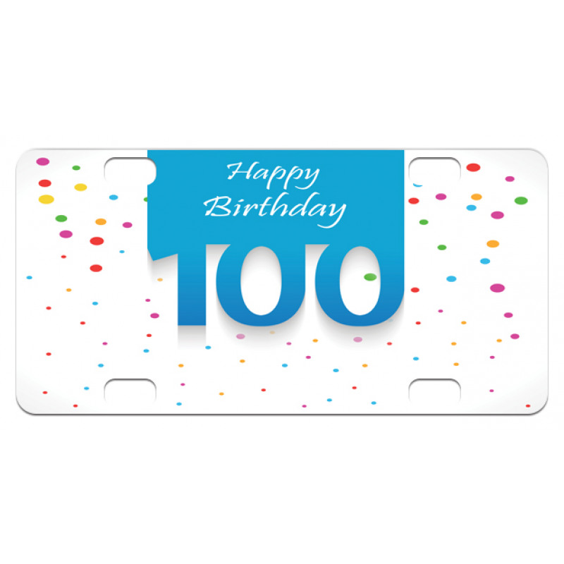 100 Years Birthday Mini License Plate