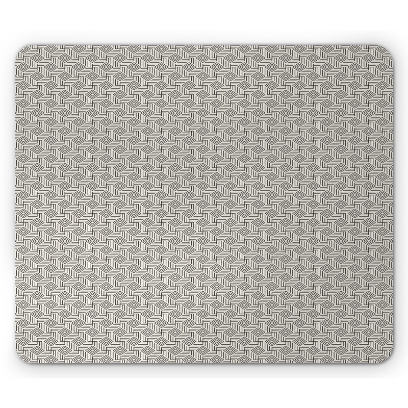 Abstract Art Grid Mouse Pad