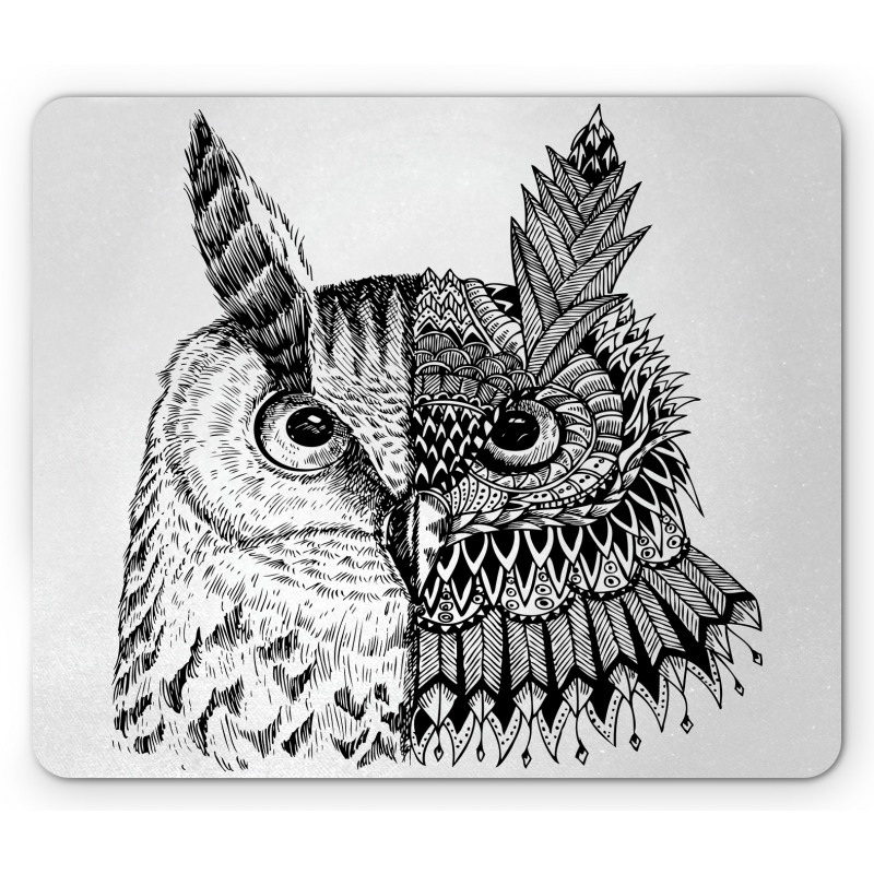 2 Animal Faces Design Mouse Pad