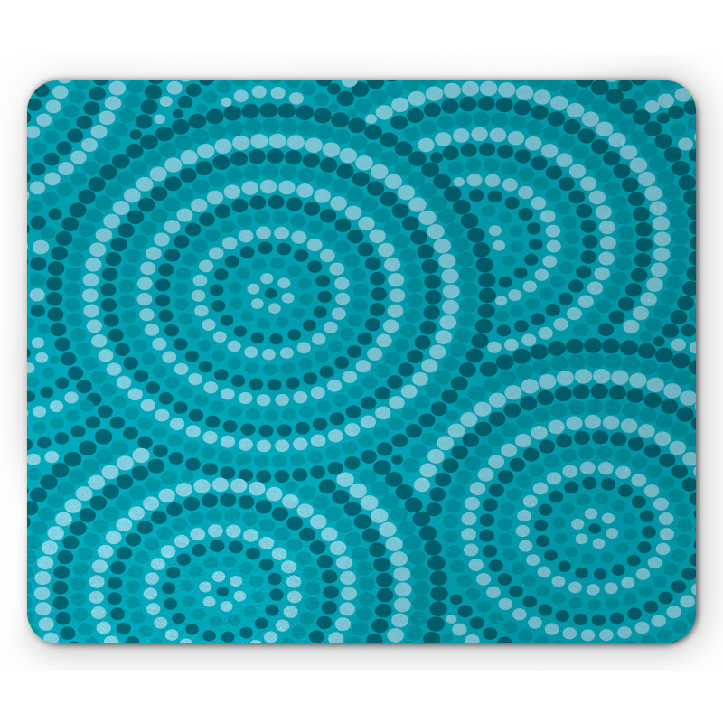 Abstract Australian Dots Mouse Pad