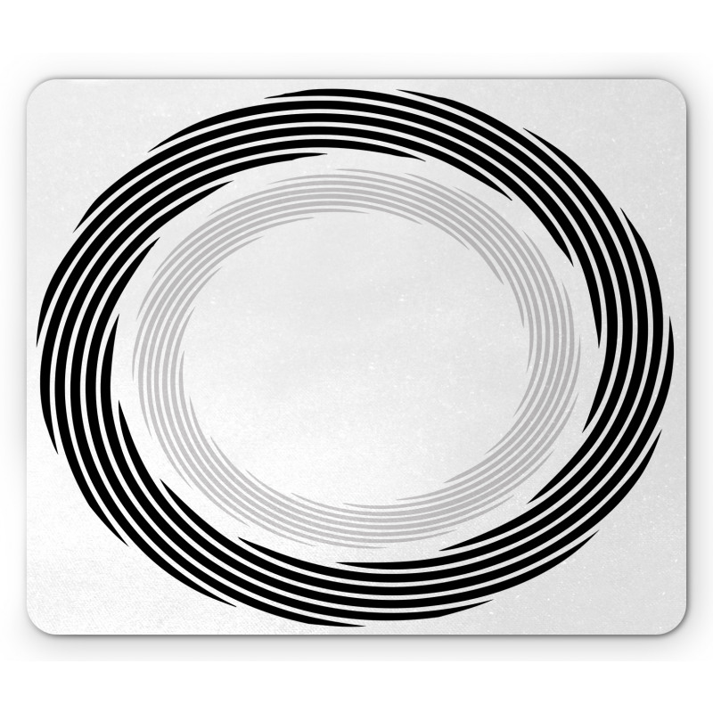 Abstract Art Theme White Mouse Pad