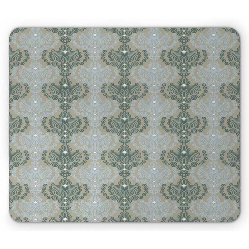 Abstract Art Floral Mouse Pad