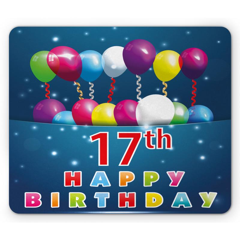 17 Birthday Mouse Pad