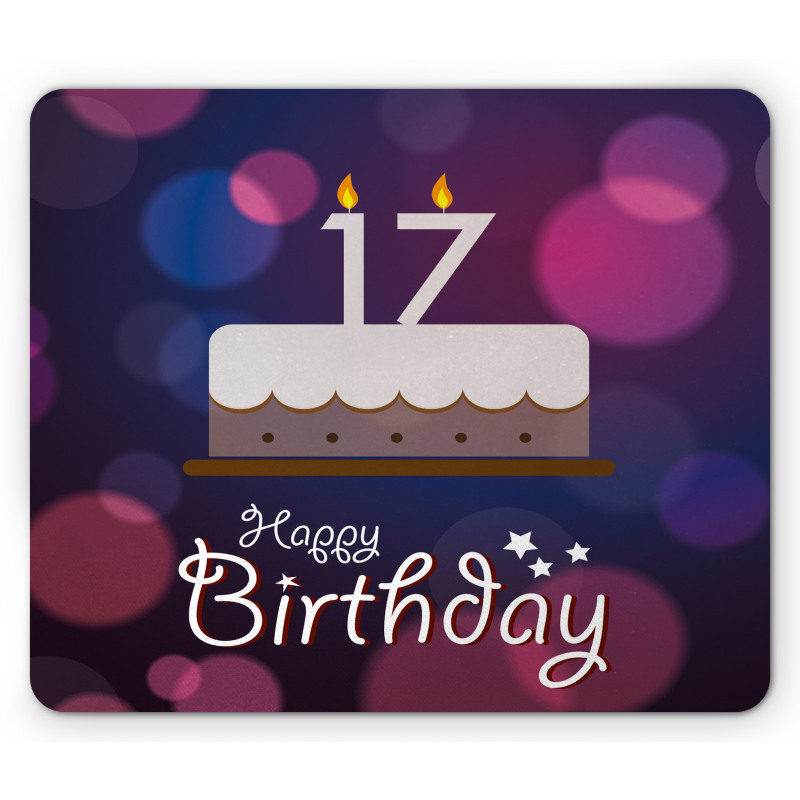 17 Party Cake Mouse Pad