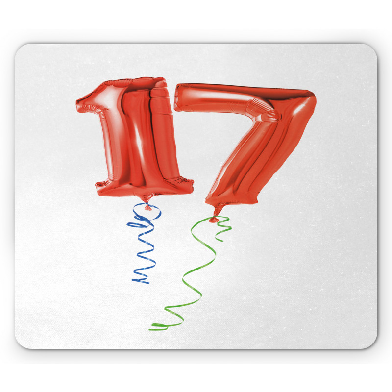 17 Party Red Balloons Mouse Pad