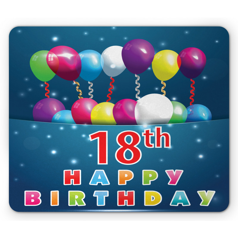 18 Birthday Balloons Mouse Pad