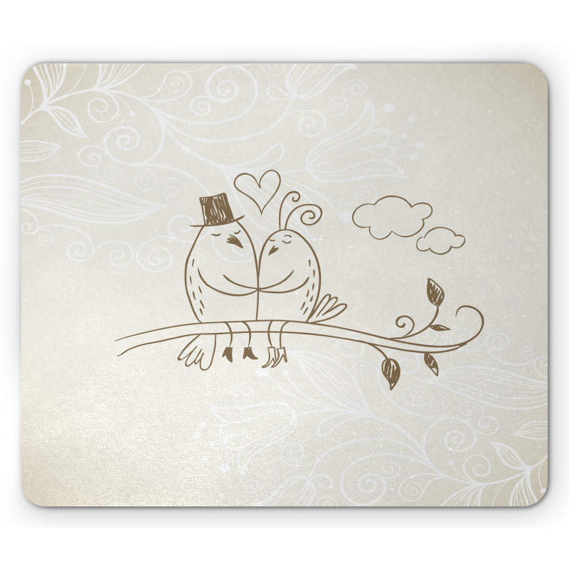 2 Birds Love Mouse Pad