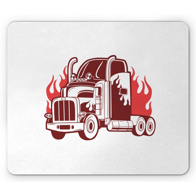 18 Wheeler Silhouette Mouse Pad