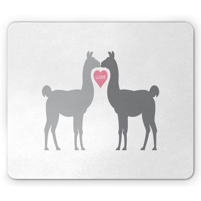 2 Animals in Love Mouse Pad