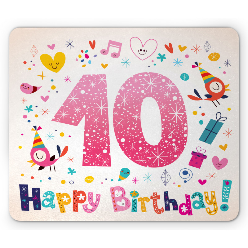 10 Years Kids Birthday Mouse Pad