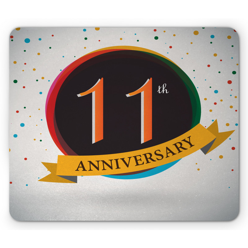 11 Year Retro Style Mouse Pad