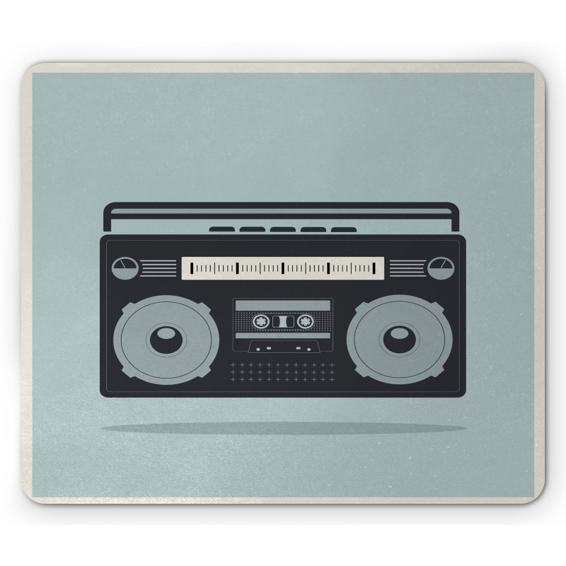 1980s Boombox Image Mouse Pad