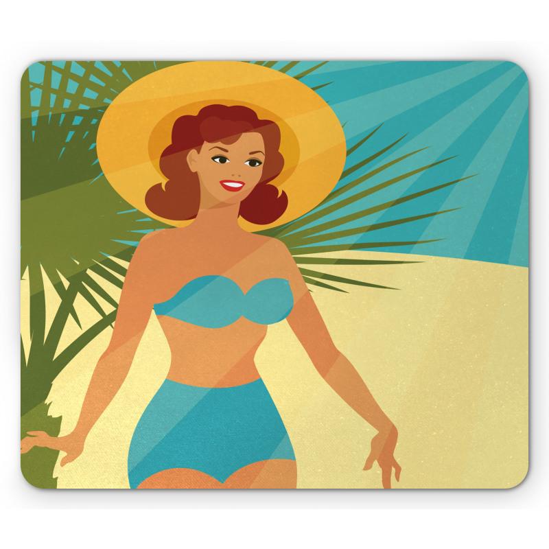 1950s Style Bikini Mouse Pad