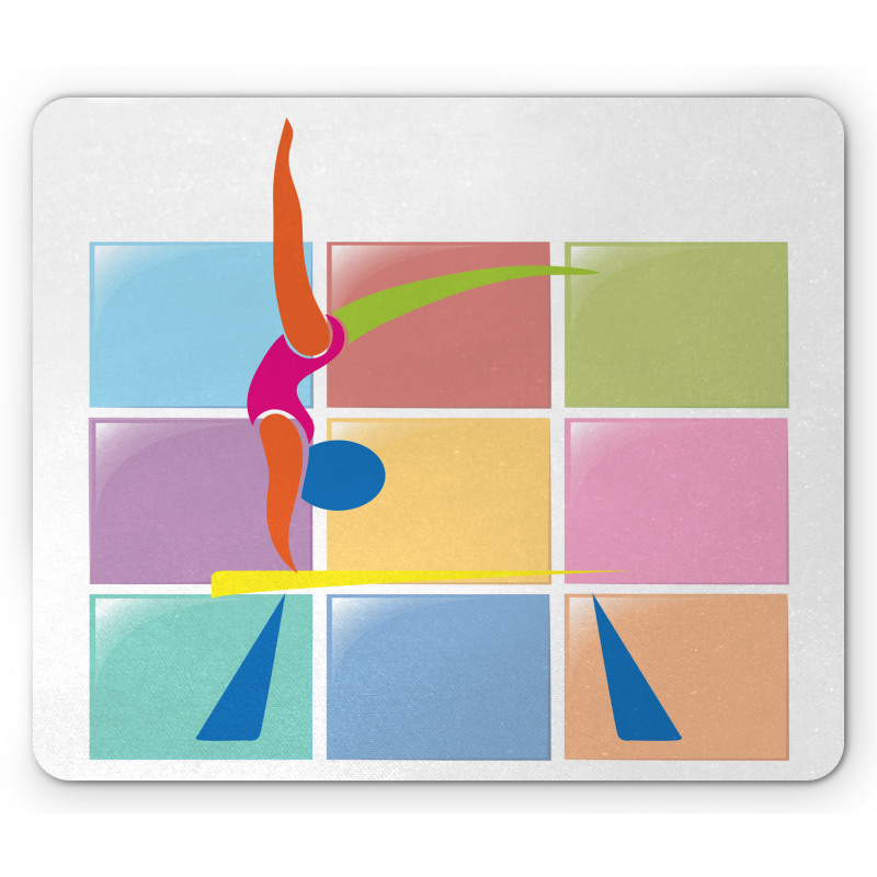 Abstract Athlete Mouse Pad
