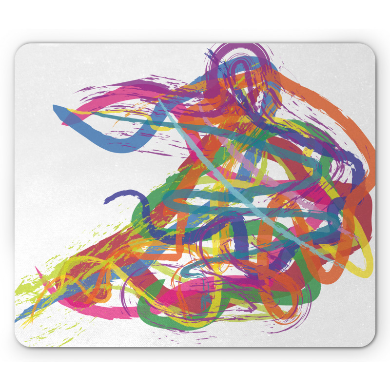 Abstract Art Dancer Mouse Pad