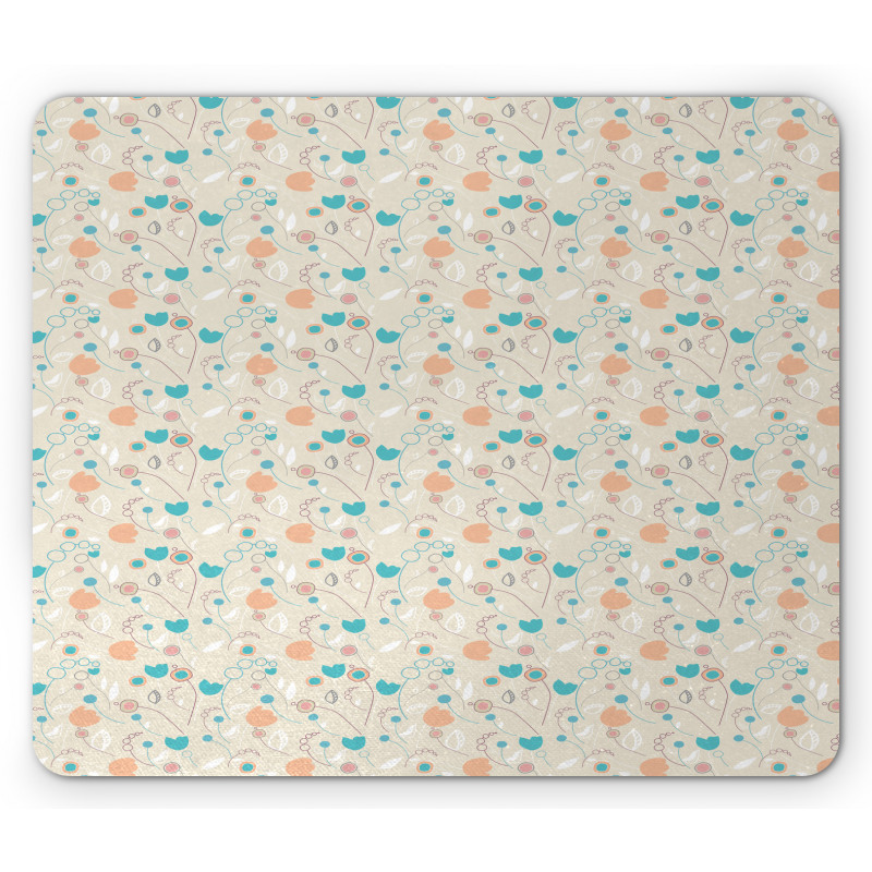 Abstract Art Floral Doodle Mouse Pad