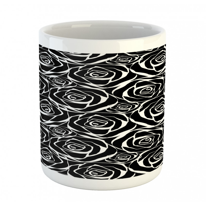Abstract Art Rose Flowers Mug