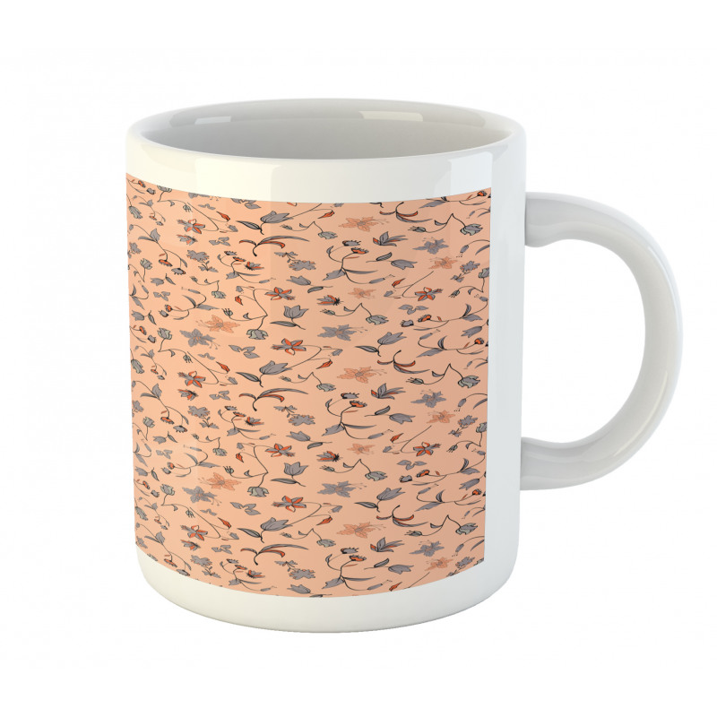 Abstract Autumn Botany Mug