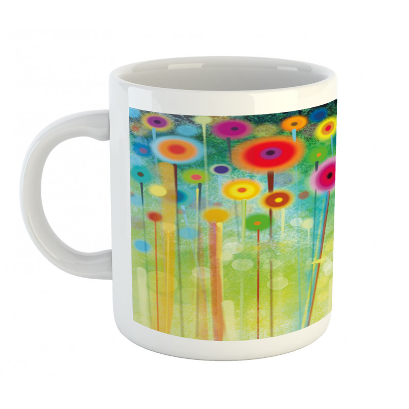 Abstract Art Dandelion Mug