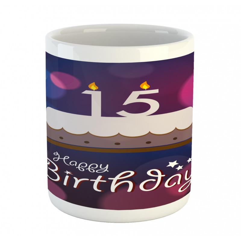 15 Birthday Cake Mug
