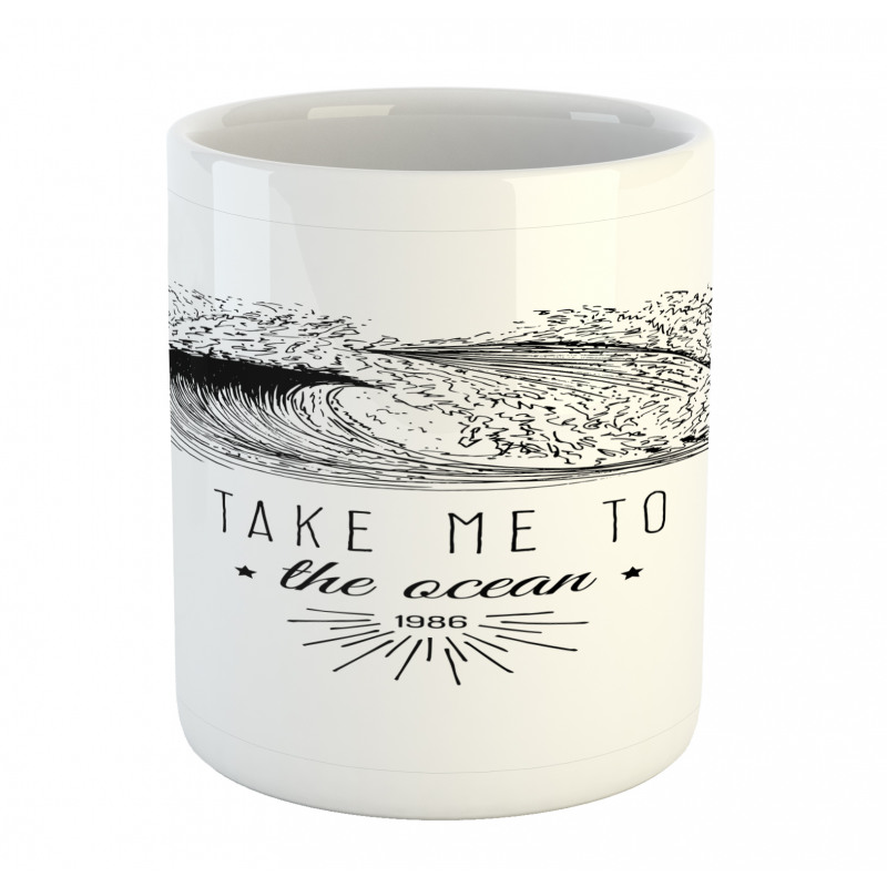 1986 Ocean Surf Waves Mug