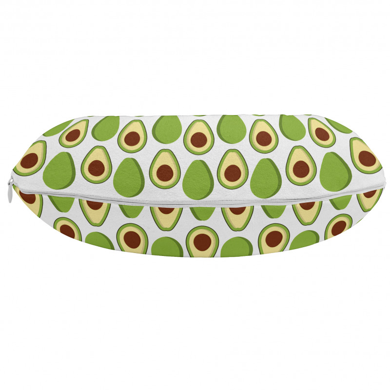 Avokado Boyun Yastığı Sağlıklı Meyvenin İçi ve Dışı Tekrarlı