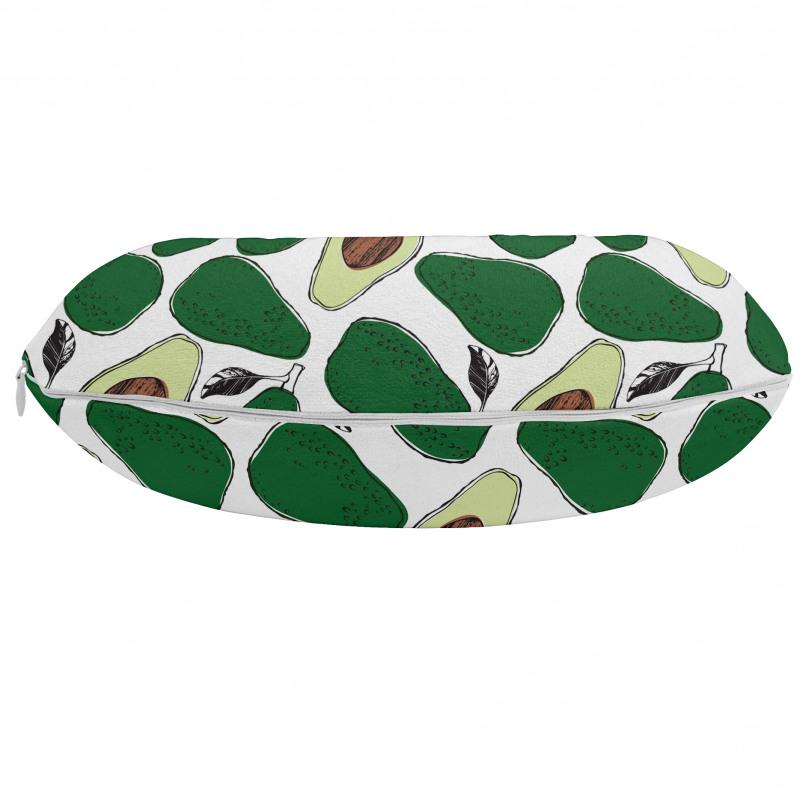 Avokado Boyun Yastığı İç ve Dış Yüzü Gözüken Tekrarlı Doğal Meyve