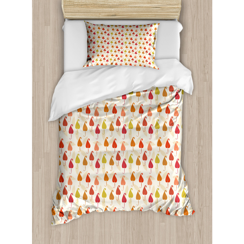 Abstract Autumn Leaf Art Duvet Cover Set