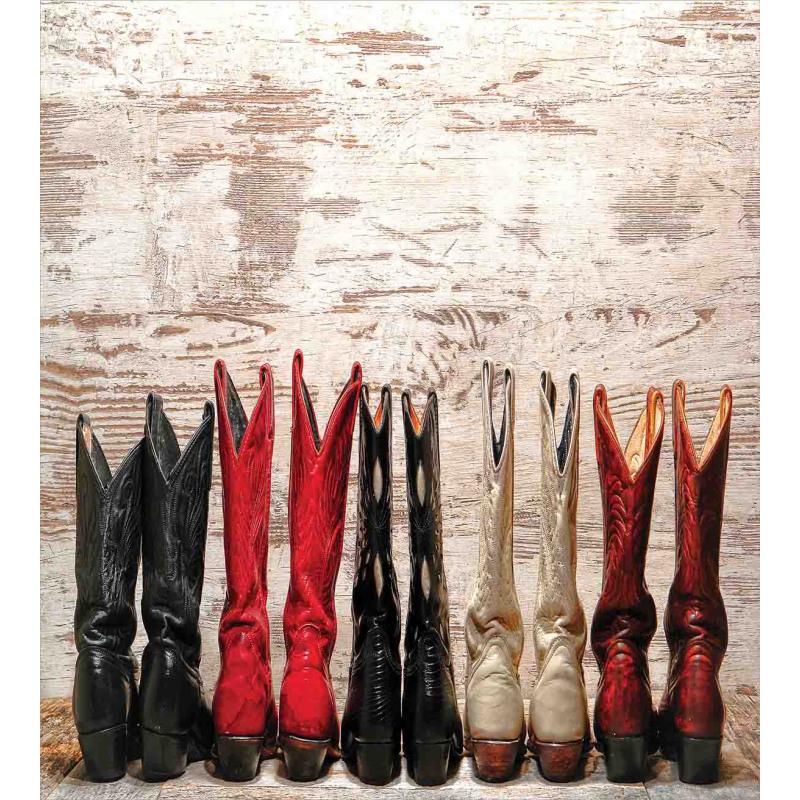 Rustic Wild West Boots Duvet Cover Set