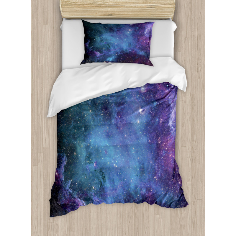 Galaxy Stars in Space Duvet Cover Set