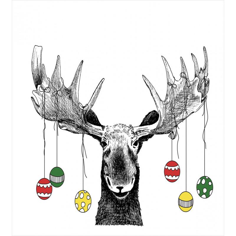 Sketchy Noel Ornament Duvet Cover Set