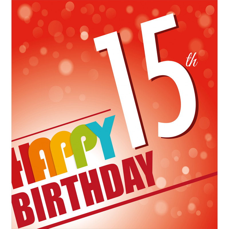 15th Birthday Concept Duvet Cover Set