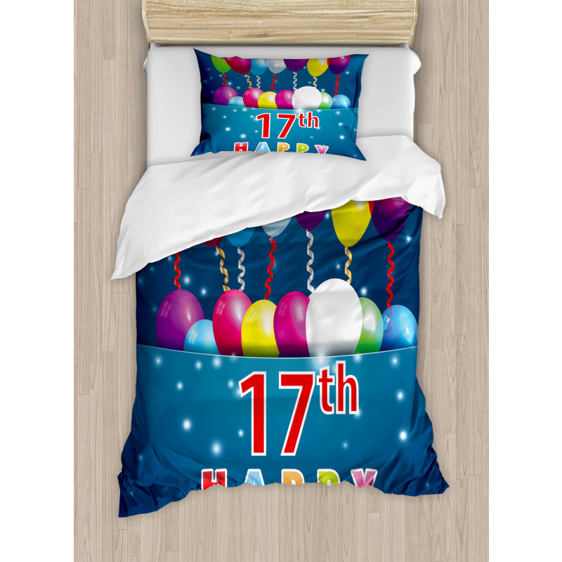 17 Birthday Duvet Cover Set