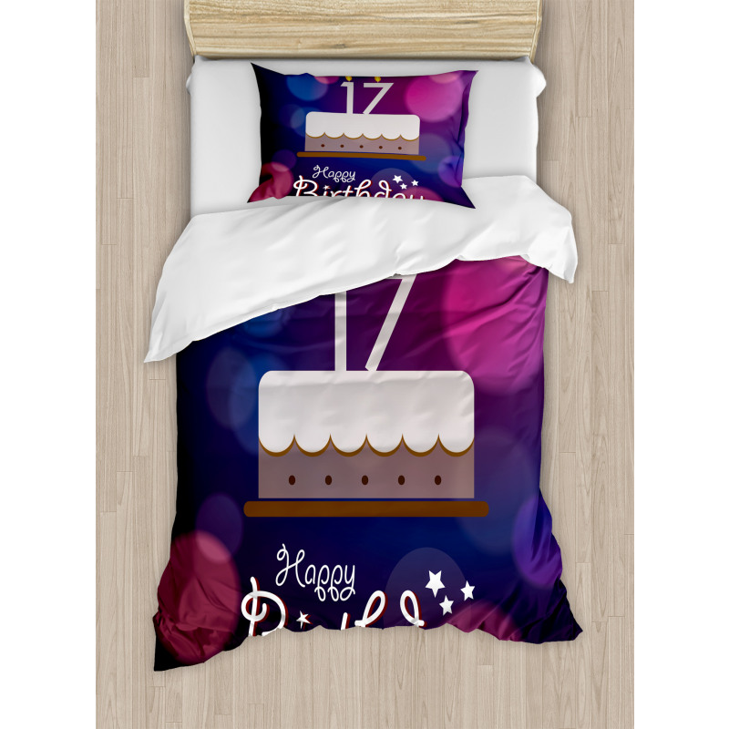 17 Party Cake Duvet Cover Set