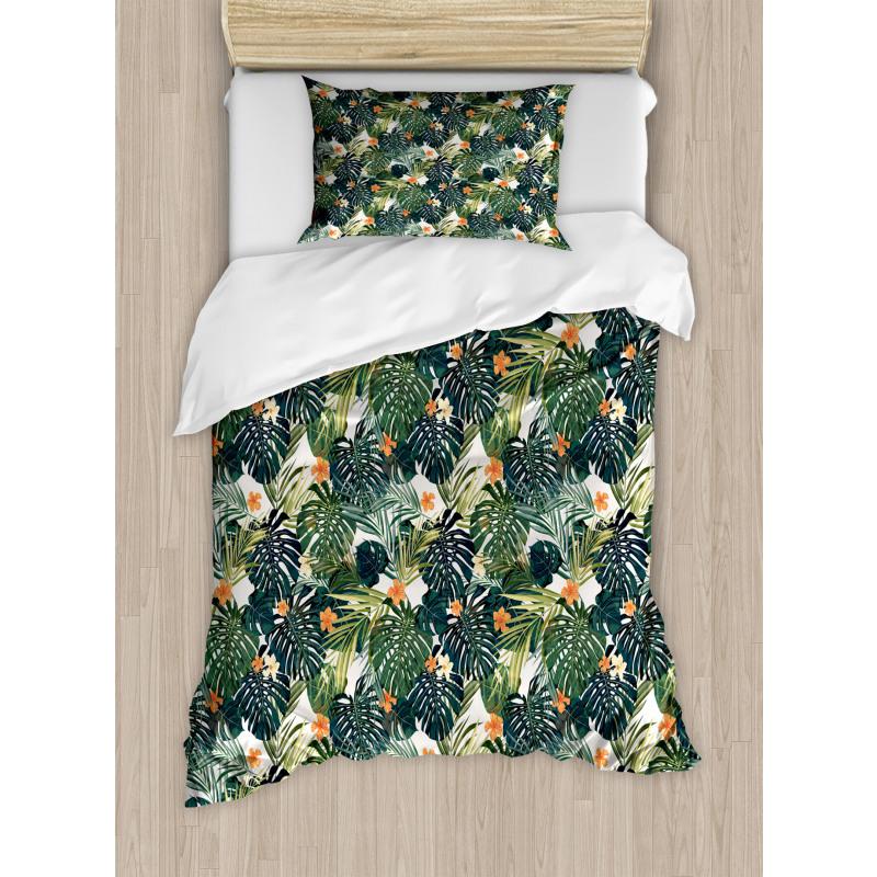Hawaiian Tropical Flora Duvet Cover Set