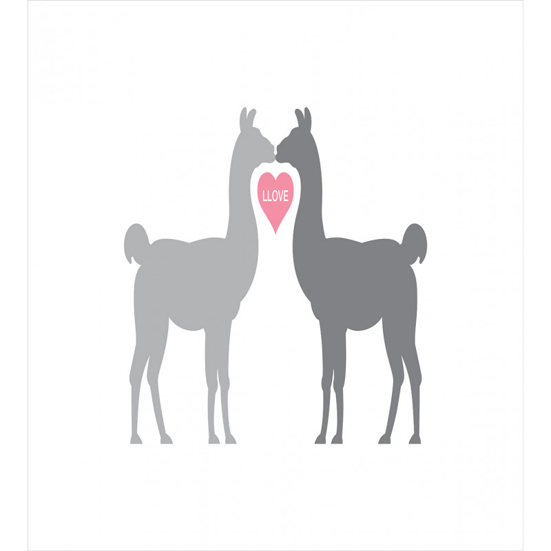 2 Animals in Love Duvet Cover Set