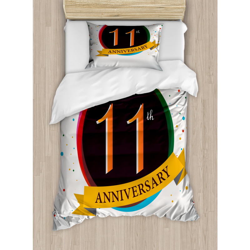 11 Year Retro Style Duvet Cover Set
