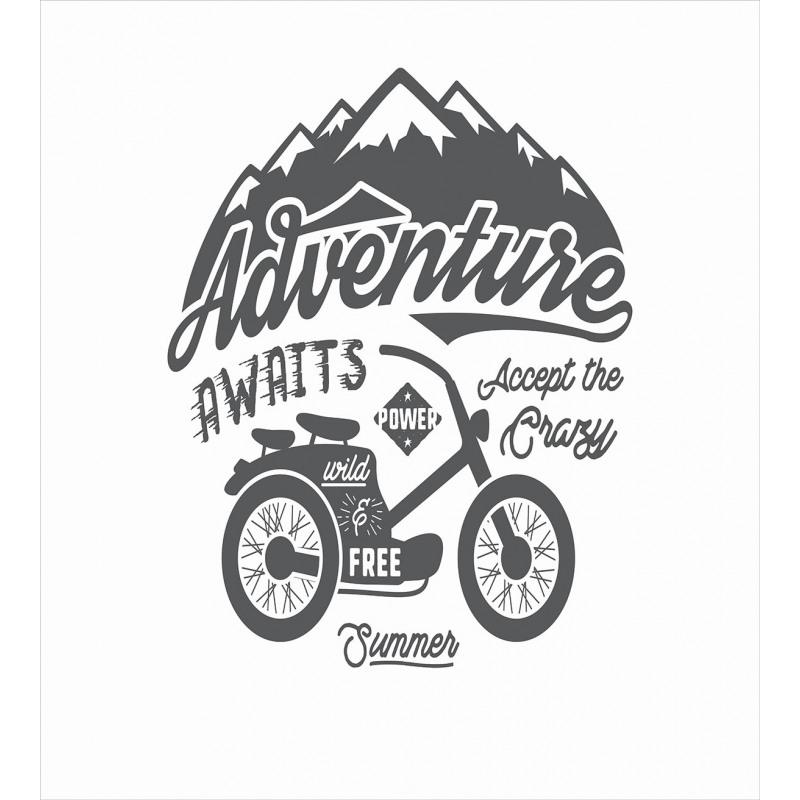 Mountains Bike Duvet Cover Set