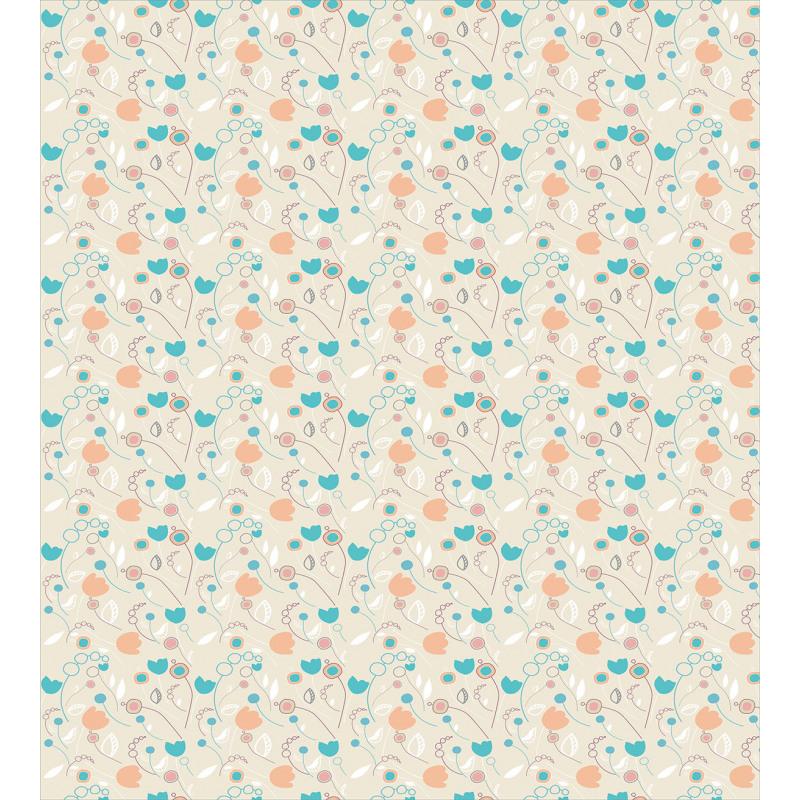 Abstract Art Floral Doodle Duvet Cover Set