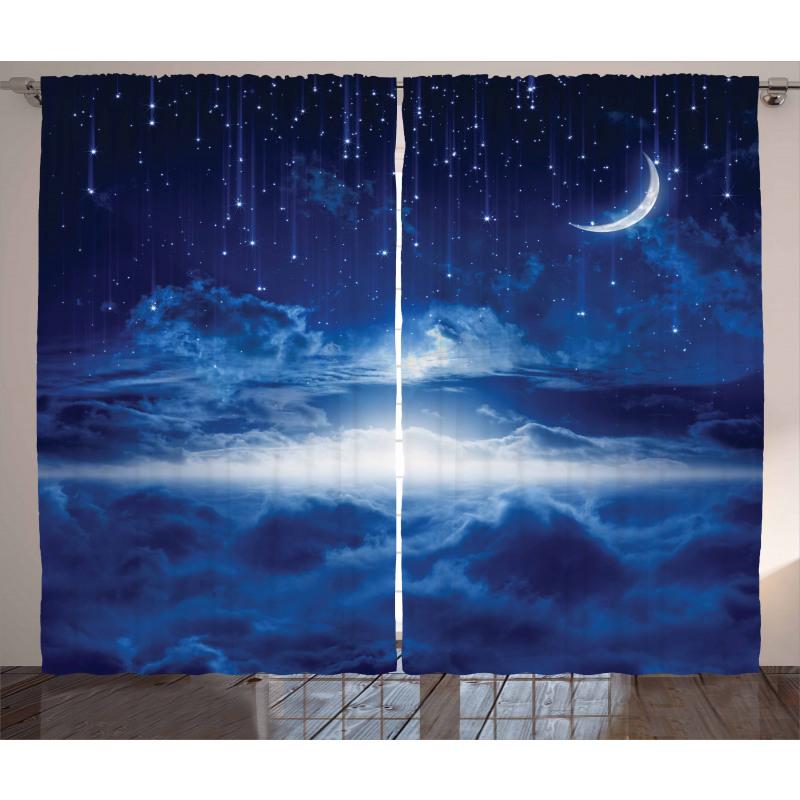 Gökyüzü Perde Gece Temalı