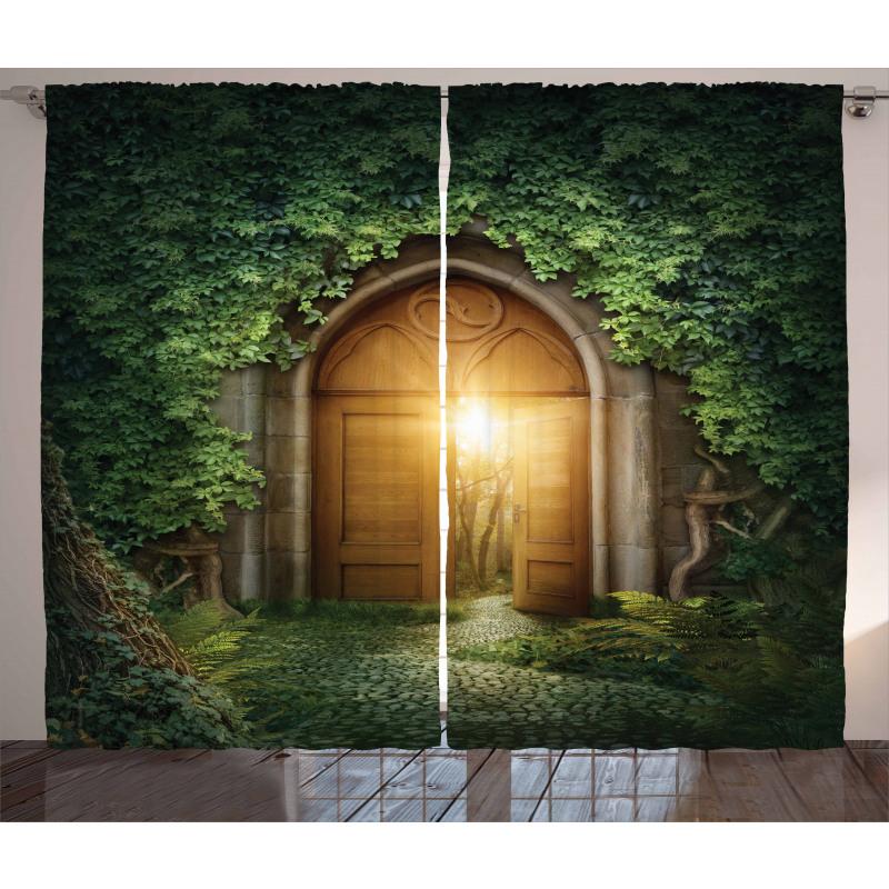 Mystic Vivid Sun Beams Curtain