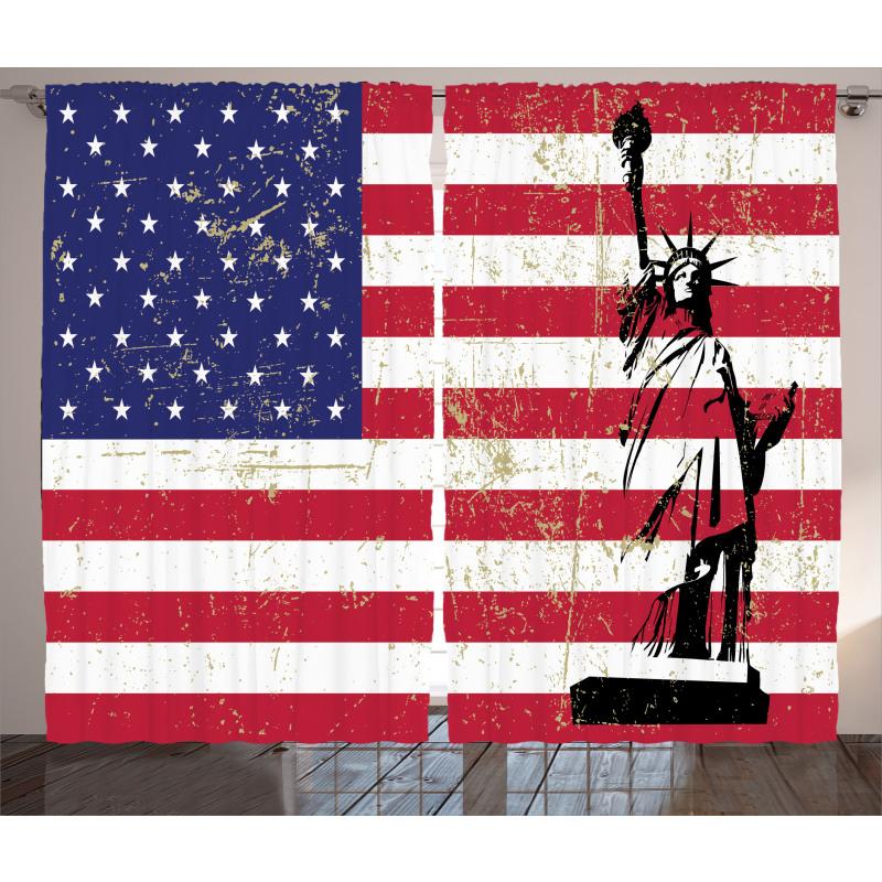 ABD Perde Özgürlük Heykeli