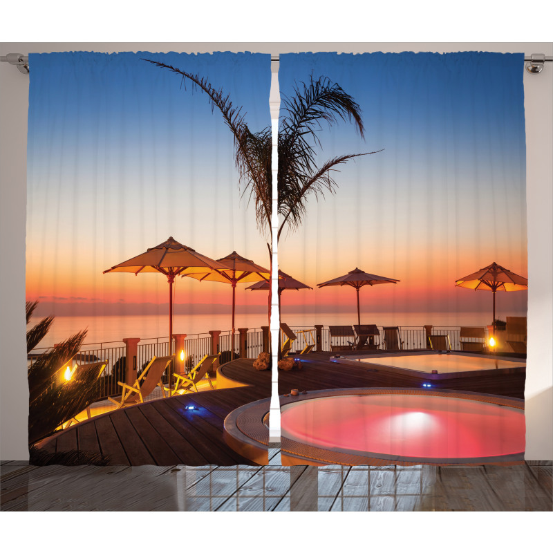 Ocean View at Sunset Curtain