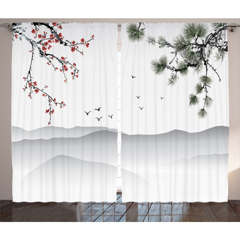 Chinese Style Artwork Curtain