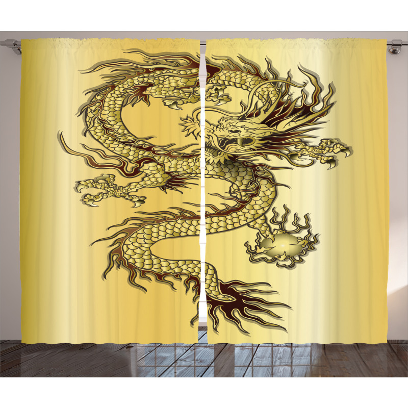 Chinese Eastern Myth Curtain